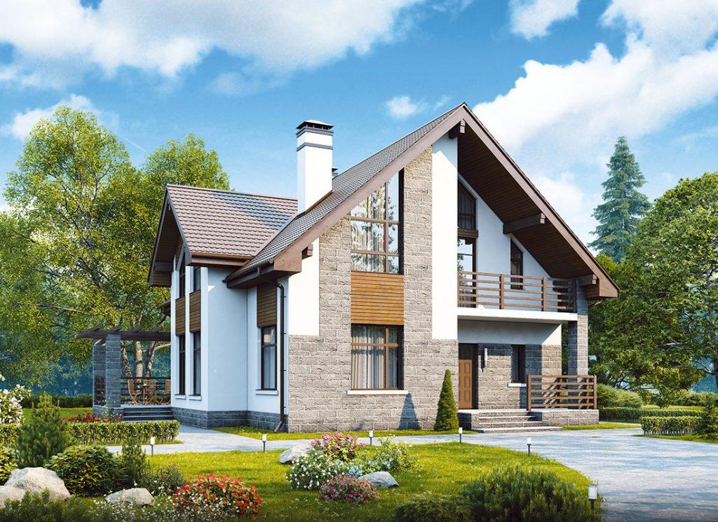 современный дом из пеноблока