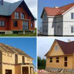 Из чего построить дом? Пеноблок, дерево или кирпич.