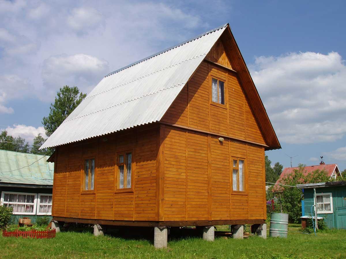 Дом на столбчатом фундаменте