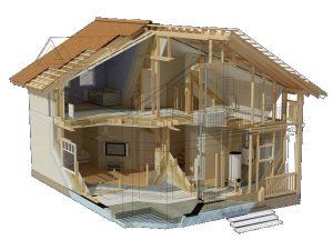 Каркасно-рамочный дом