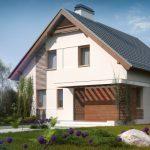 Проект двухэтажного дома Z166