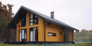 дом из двойного бруса