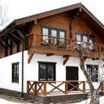 Бесплатный проект дома из пеноблока и дерева