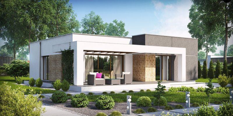 Проект дома с плоской крышей до 100 м2
