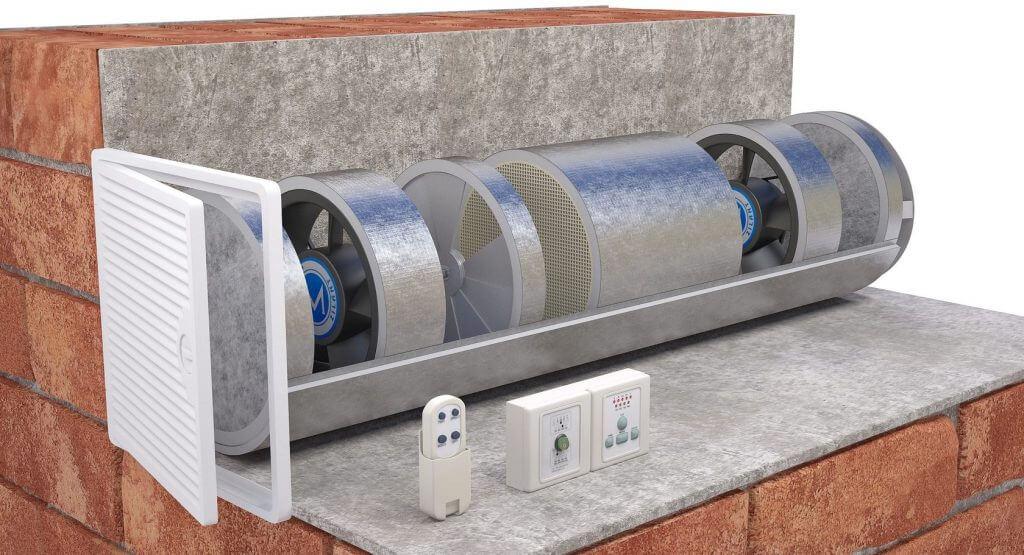 рекуператор стеновой для вентиляции