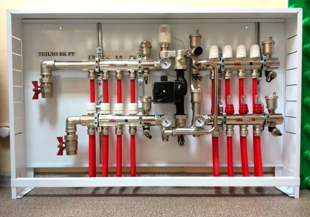 сборка и установка колектора для водяного теплого пола