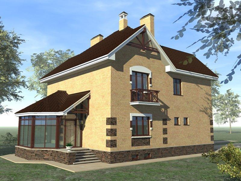 Проект дома с боковым входом